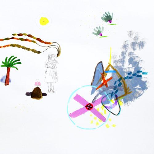 """""""All in All"""", Mischtechnik auf Papier, 2018"""