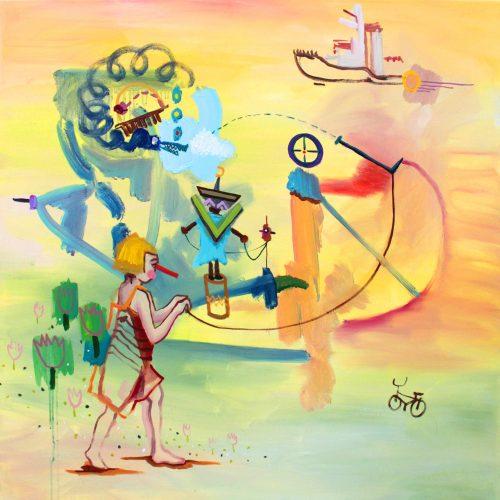 """Art of Study I"", Oel auf Leinwand, 70x70cm, 2018"