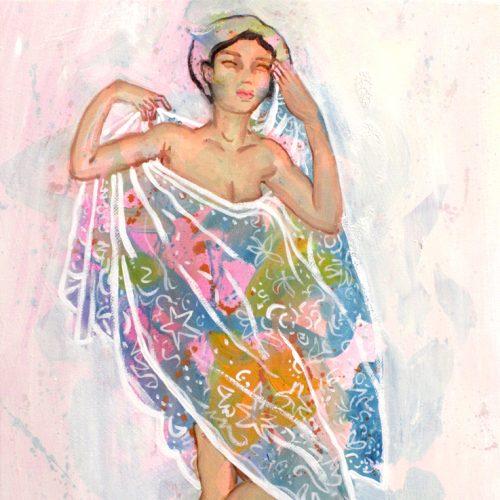 """""""Nackter Orientalismus I"""", Oel auf LW, 40x30cm, 2019"""