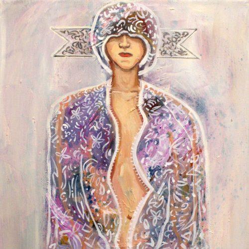 """Nackter Orientalismus II"", Oel auf LW, 40x30cm, 2019"