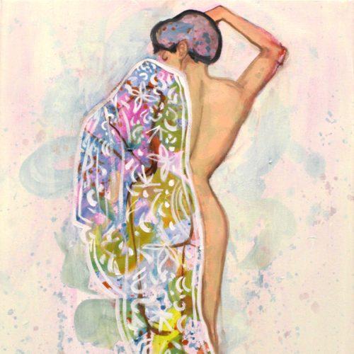 """Nackter Orientalismus III"", Oel auf LW, 40x30cm, 2019"