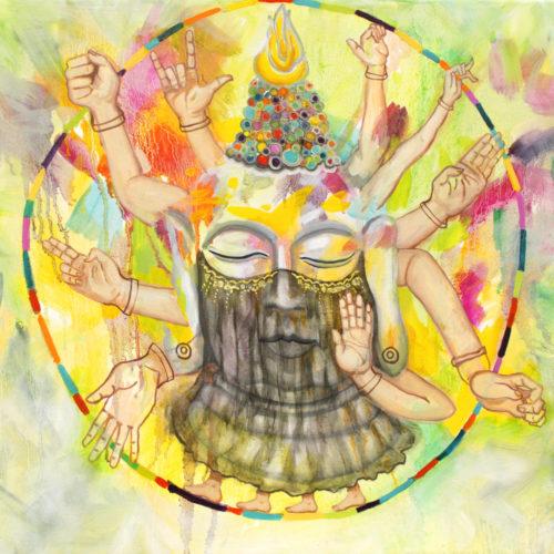 """Meditation"" (der Gebärden), Öl auf Leinwand, 50x60cm, 2020"