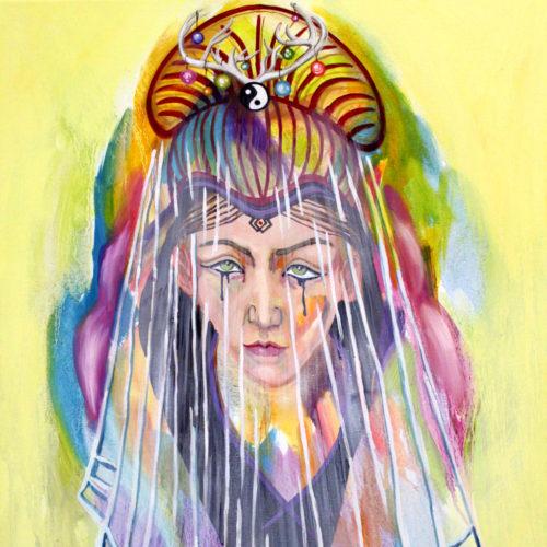 """""""The Veil"""", Öl auf Leinwand, 70x55cm, 2020"""