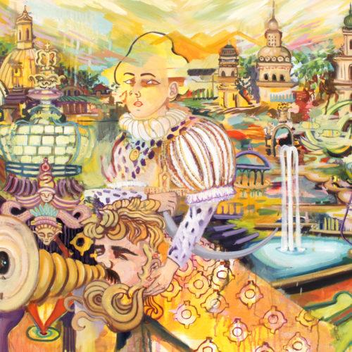 """""""Bunte Republik Dresden"""", Öl auf Leinwand, 60x90cm, 2020"""