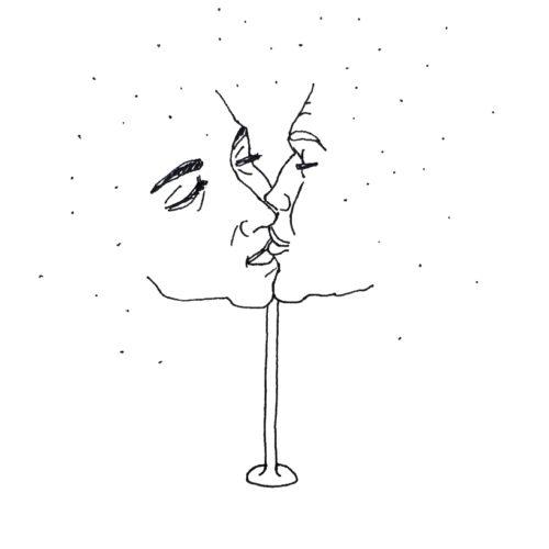 """Dream-Clouds"", Liner auf Papier, 2019"